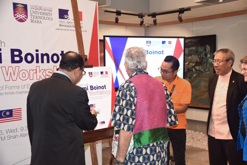 Intervention de l artiste remi boinot dans deux universit s kuala lumpur et la france - Chambre de commerce malaisie ...